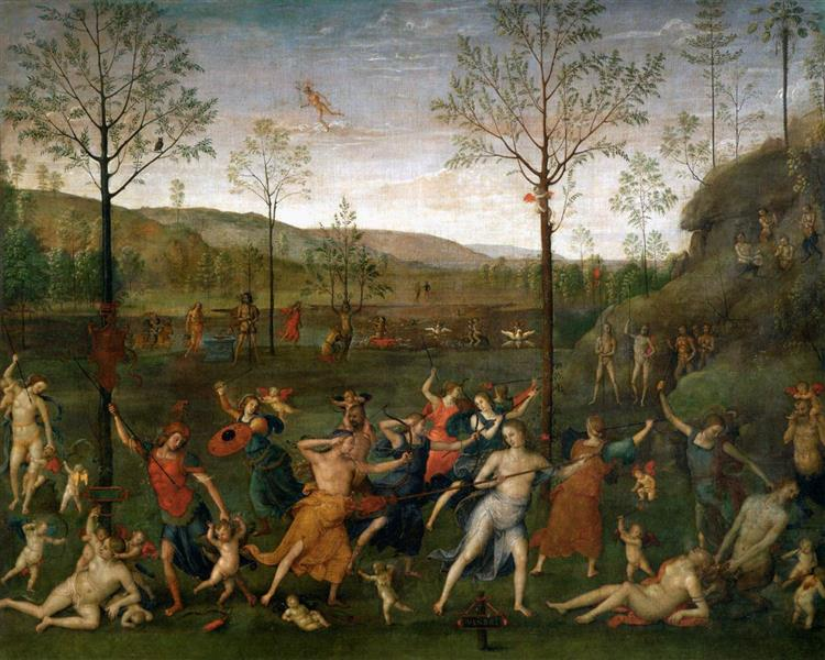 Combat of Love and Chastity - Pietro Perugino