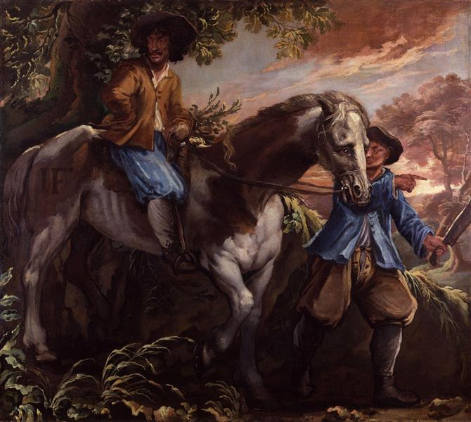 King Charles II on Humphrey Penderel's Mill Horse - Isaac Fuller
