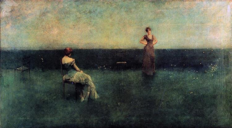The Recitation, 1891 - Thomas Dewing