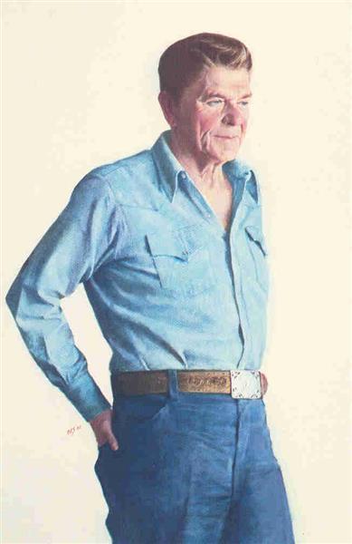 Ronald Reagan, 1980 - Aaron Shikler