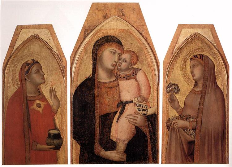 Madonna and Child with Mary Magdalene and St Dorothea, 1325 - Ambrogio Lorenzetti