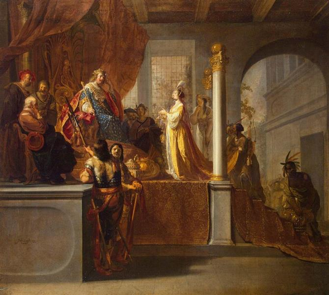 Queen of Sheba Before Solomon, 1640 - Nikolaus Knüpfer