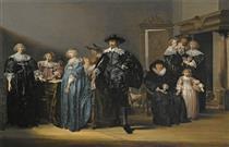 Portrait of the Family Twent in An Interior - Pieter Codde