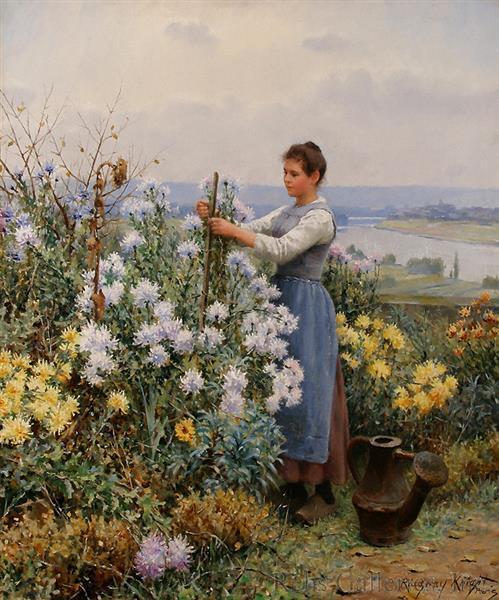 Chrysanthemums, 1898 - Daniel Ridgway Knight