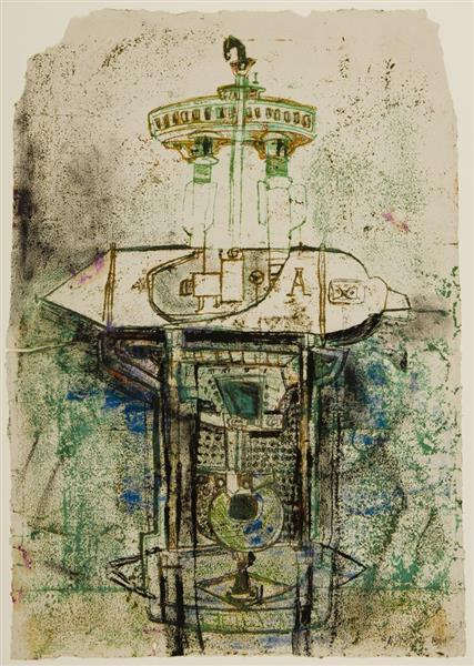 Untitled (Machine), 1949 - Hedda Sterne