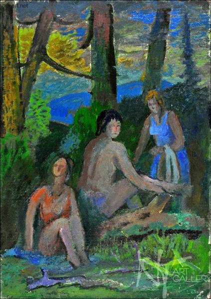 Girls at the Edge of the Forrest, 1975 - Roman Selsky