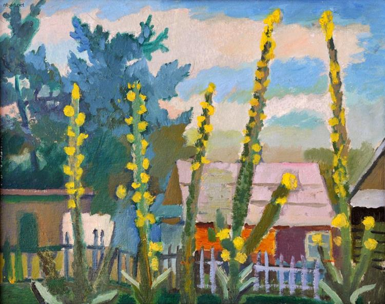 Yellow Flowers, 1981 - Roman Selsky