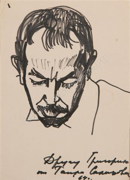 Male Portrait, 1964 - Tahir Salahov