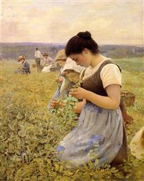 Women in the Fields - Charles Sprague Pearce