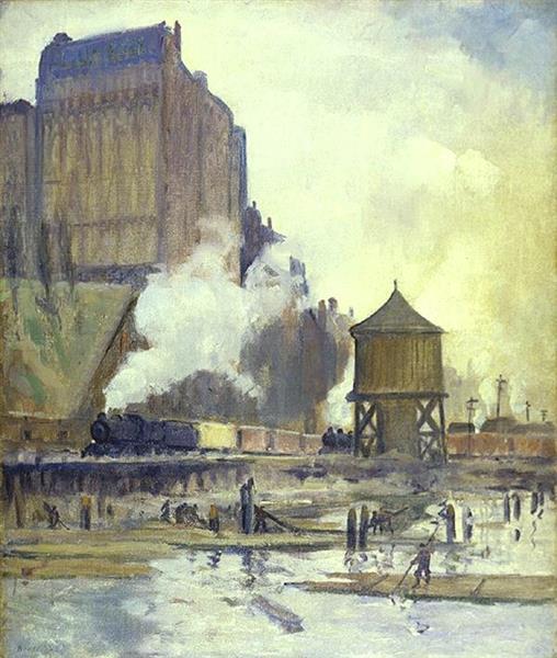 Reclaimed Land, Riverside Drive, 1913 - Leon Kroll