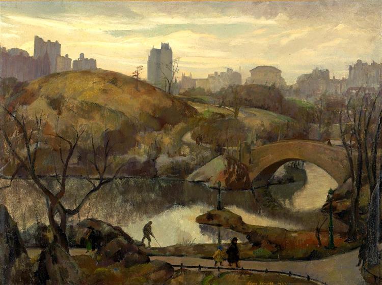 Scene in Central Park, 1922 - Leon Kroll