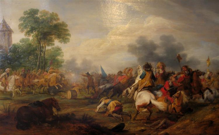 Reitertreffen Zwischen Kaiserlichen Und Schweden, 1654 - Adam Frans van der Meulen