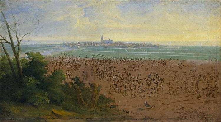 the French Army at Naarden, 20 July 1672, 1690 - Adam Frans van der Meulen