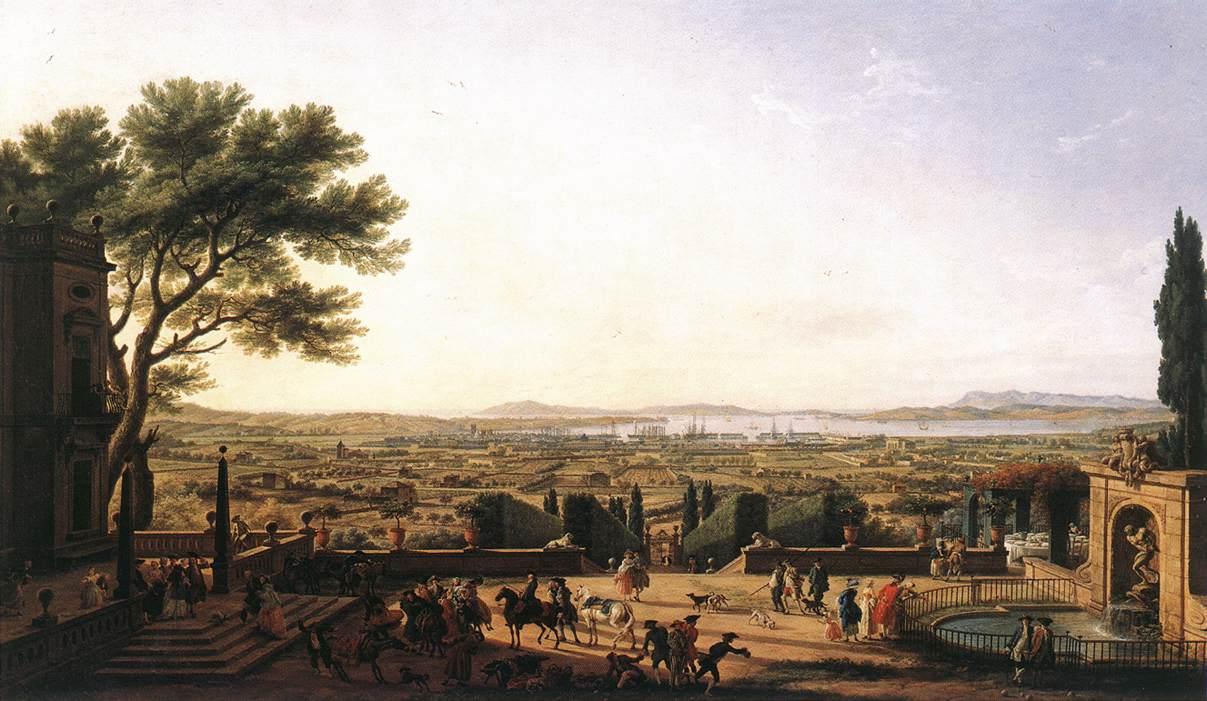 The town and harbour of toulon 1756 claude joseph for Piscine 18eme paris