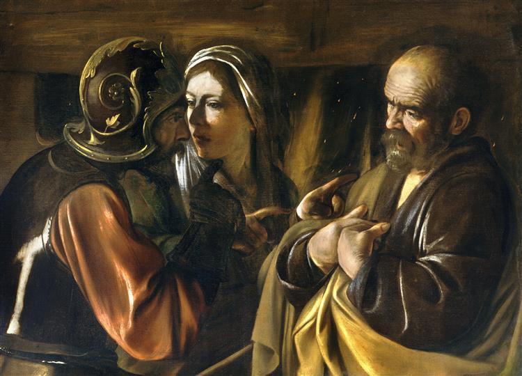 Denial of Saint Peter, 1610 - Caravaggio