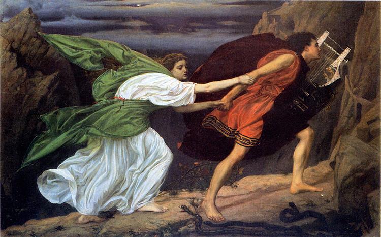 Orpheus and Eurydice, 1862 - Edward Poynter