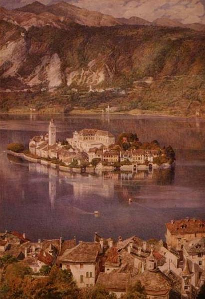 Isola San Giulio, Lake Orta, 1880 - Edward Poynter