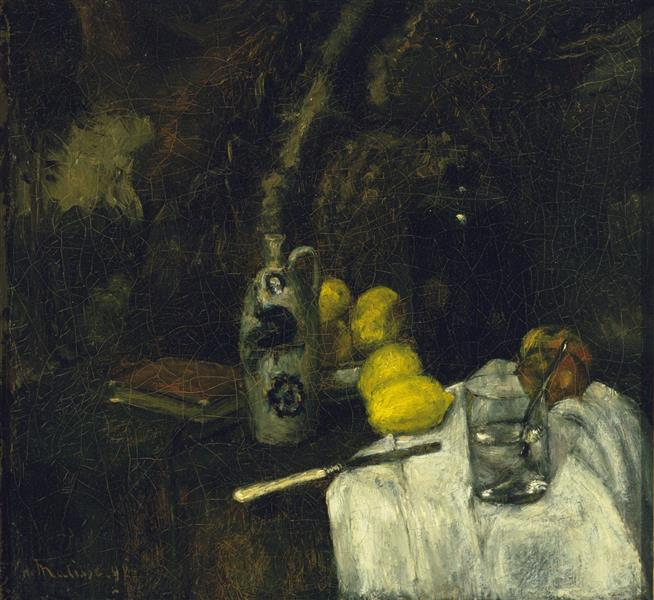 Lemons and Bottle of Dutch Gin - Henri Matisse