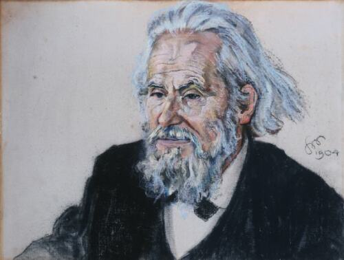 Portrait of Władysław Mickiewicz, 1904 - 斯坦尼斯拉夫·维斯皮安斯基