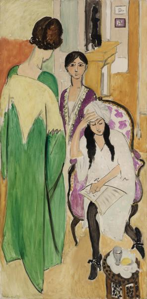 Three Sisters with An African Sculpture, 1917 - Henri Matisse