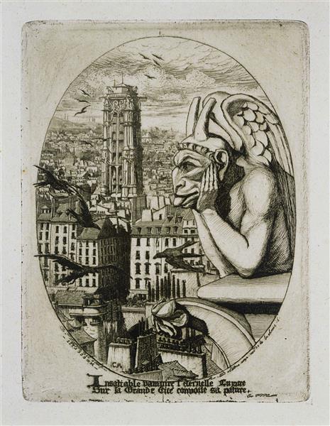 Le Stryge, 1853 - Charles Meryon