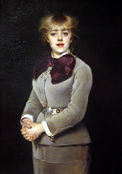 Portrait de Mlle Samary, 1879 - Луиза Аббема