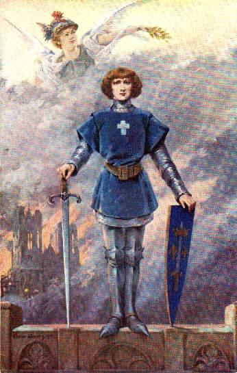 Jeanne d'Arc, incendie de Reims, 1914 - Louise Abbéma