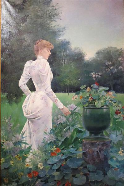 In the Flowers, 1892 - Louise Abbéma