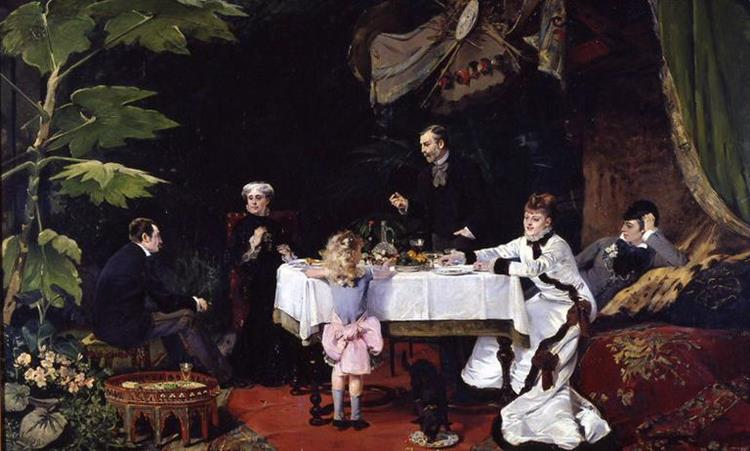 Lunch in the Greenhouse, 1877 - Louise Abbéma
