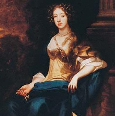 Detail of Margaret Godolphin by Maybe Mary Beale, 1675 - Mary Beale