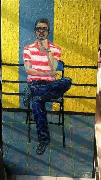 bài tự họa năm 3 tại trường đại học mỹ thuật TP HCM, 2015 - song nam
