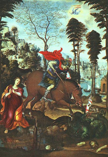 St George and the Dragon, 1518 - Le Sodoma