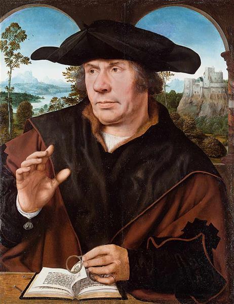Portrait of a Man, 1525 - Квентин Массейс