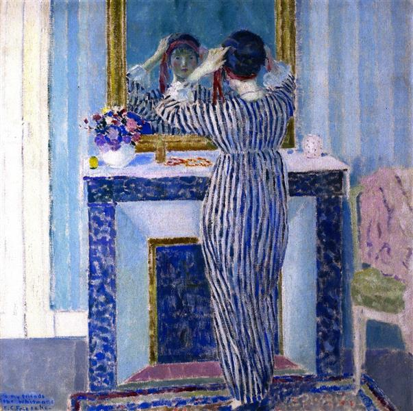 Blue Interior (also Known as The Red Ribbon), 1912 - Frederick Carl Frieseke