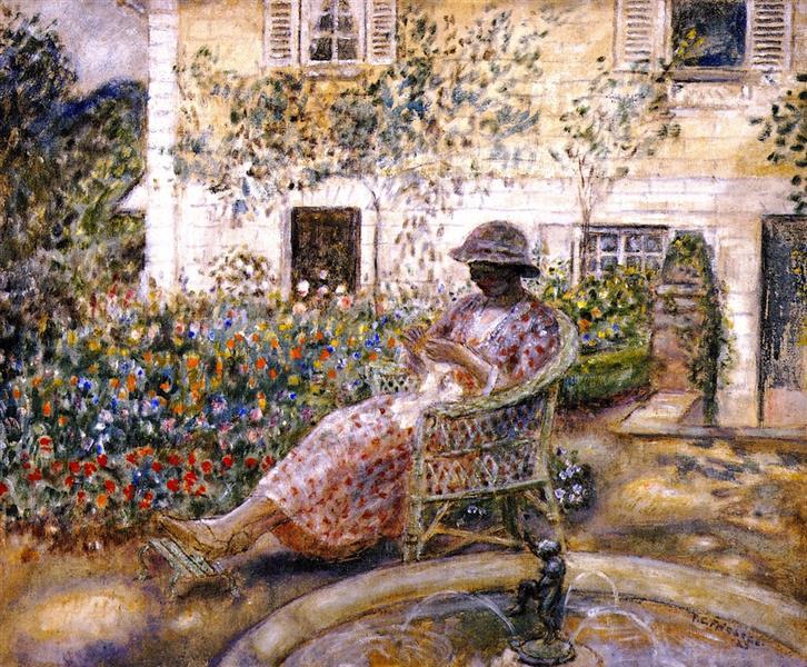 The Fountain, 1923 - Frederick Carl Frieseke