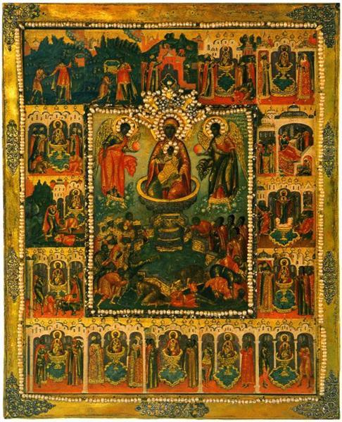Our Lady of Life-giving Source, 1670 - Simon Ushakov