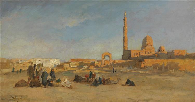 Blick Auf Die Kalifengräber Von Kairo, 1900 - Hermann David Salomon Corrodi