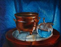 Copper Pot with Glass Apple - Lana Kanyo