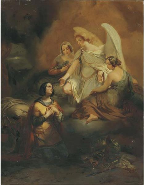 The vision of Joan of Arc, c.1847 - Gustaf Wappers