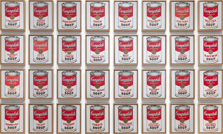 Campbell's Soup Cans, 1962 - Andy Warhol