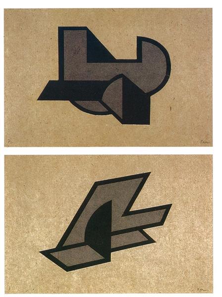 Space constructions from Der Sturm portfolio, 1922 - 1923 - Peter Laszlo Peri