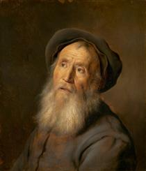 Bearded Man with a Beret - Jan Lievens