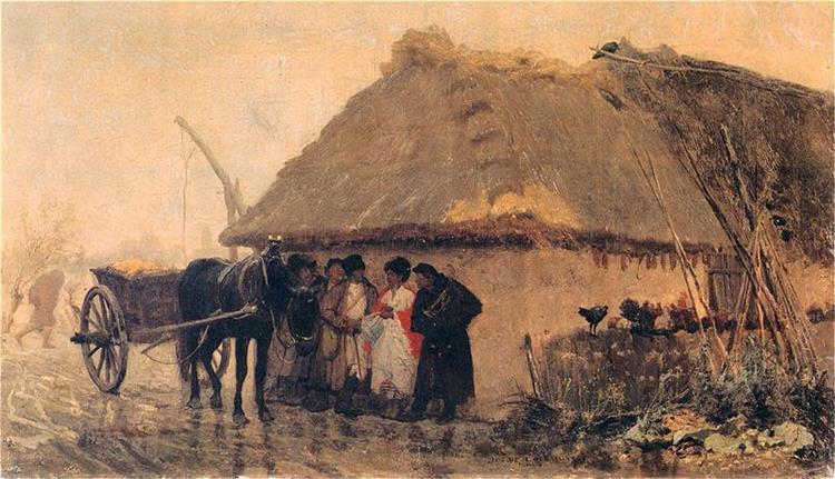 In the Rain, 1873 - Józef Chełmoński