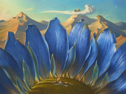 Across the Mountains and into the Trees - Vladimir Kush