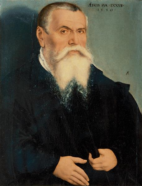Porträt des Vaters des Künstlers, c.1550 - Lucas Cranach der Ältere