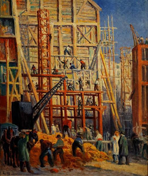Le chantier, 1911 - Maximilien Luce