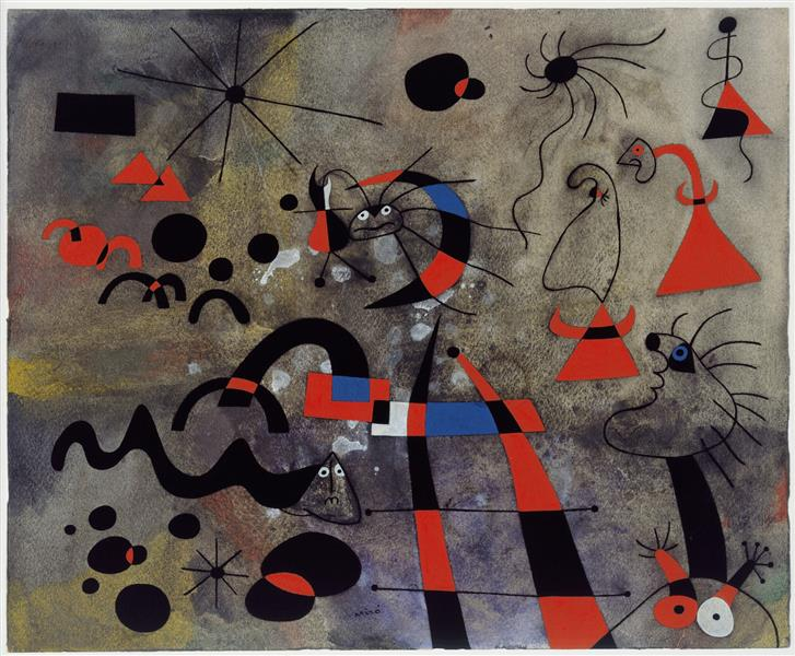 The Escape Ladder, 1940 - Joan Miro