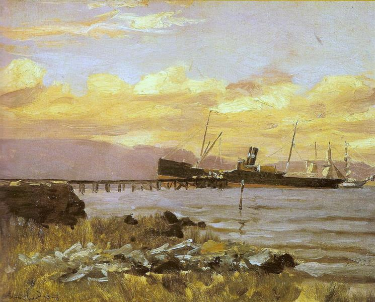 View of the Port, 1895 - Alfredo Andersen