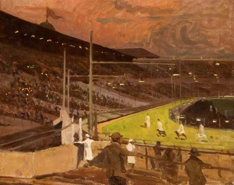 Study for 'The Parade of Dogs at Wembley', 1933 - Algernon Talmage