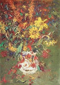 Цветы в белой вазе - Шишко Сергей